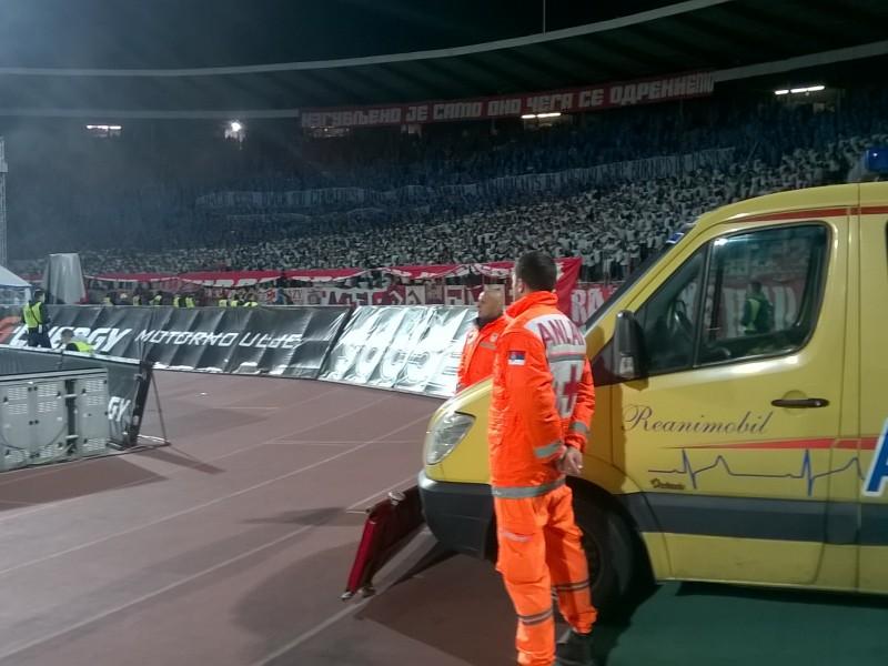 sanitetska usluga na sportskoj manifestaciji fudbal